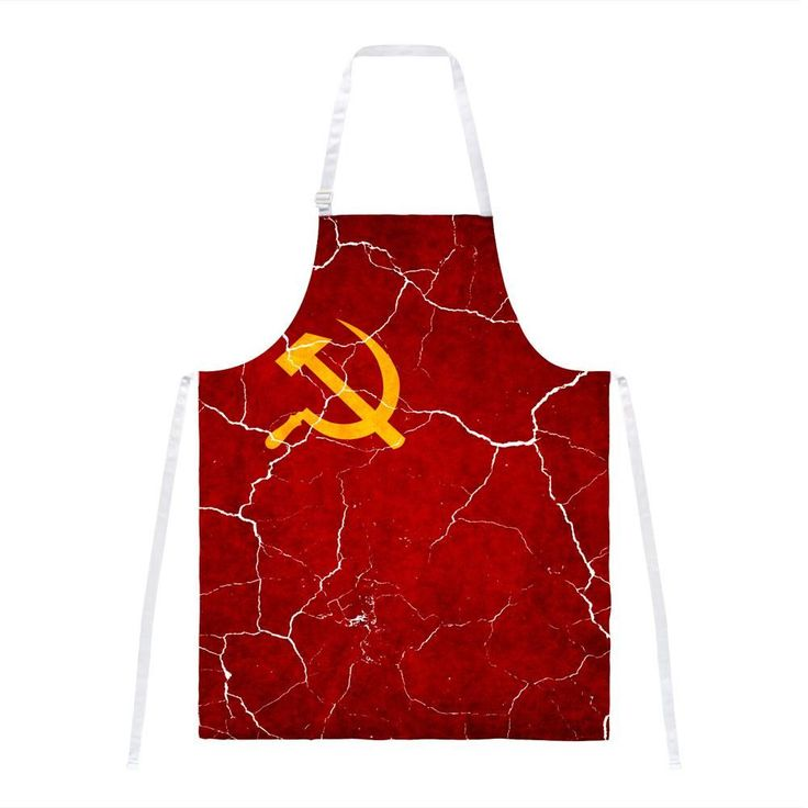 Distressed Soviet Union Flag All Over Apron