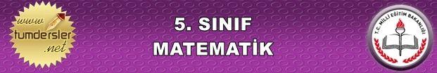 2015-2016 Matematik 5. Sınıf 2. Dönem 1. Yazılı | Tüm Dersler
