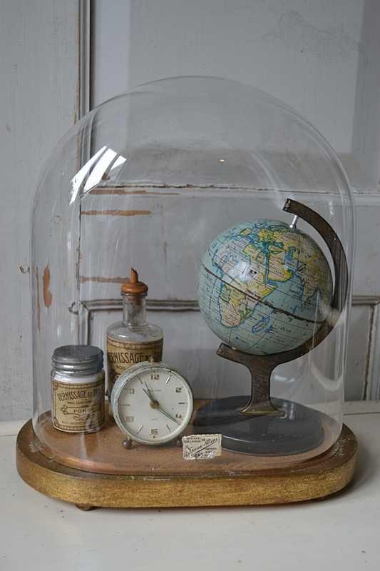 flea market treasures under glass