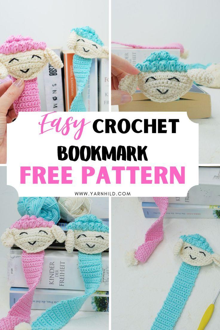 Crochet Pencil Bookmark - premium & free patterns - Ribbelmonster   1104x736