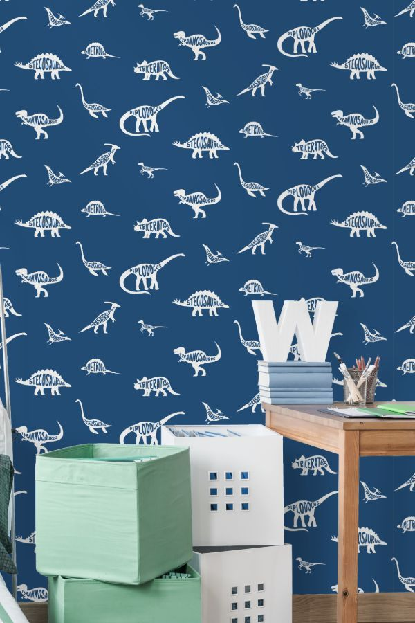 Dino Dictionary By Albany Blue Wallpaper Wallpaper Direct Blue Wallpapers Perfect Wallpaper Wallpaper Living Room
