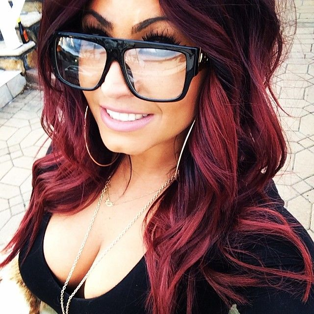 25 beautiful red ombre ideas on pinterest red ombre hair color instagram post by tracydimarcoeps black and red urmus Images