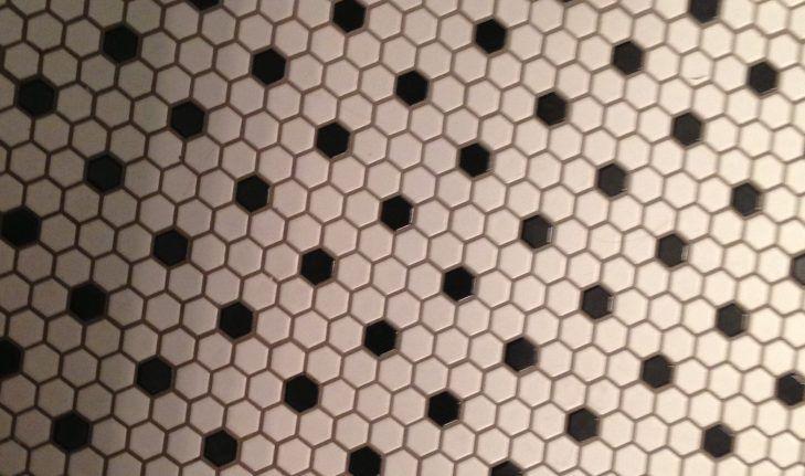 Schwarz Und Weiß Badezimmer Fußboden - Badezimmer