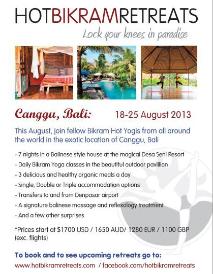 Our 18 - 25 August #Bali #Bikramyoga retreat - check out what's included