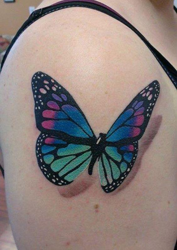 Tatuajes De Mariposas Hermosas Y Femeninas Pintura En