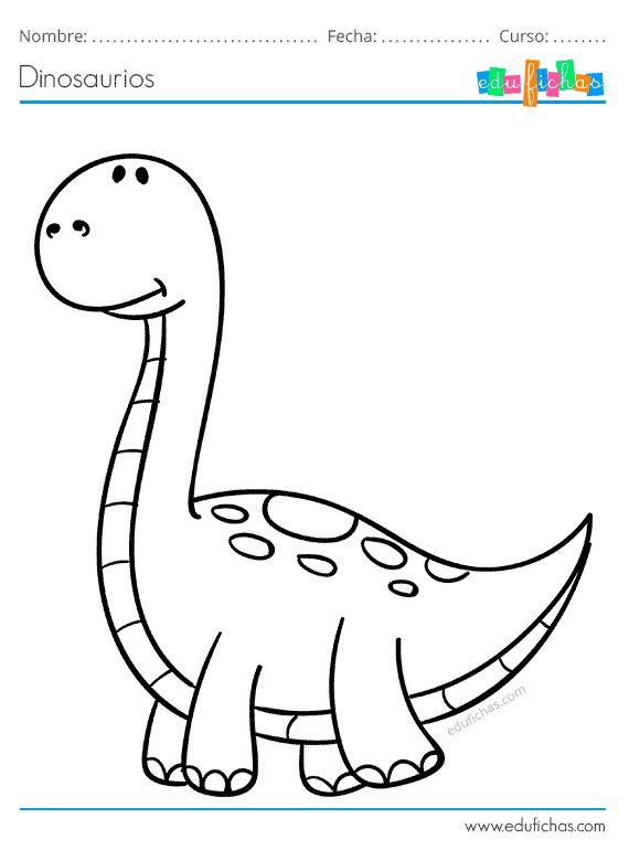 Dinosaurios para Colorear. Libro de Colorear GRATIS. Impri ...