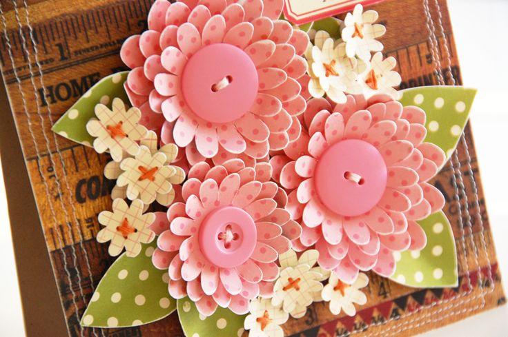 Бумажные цветы для открытки скрапбукинг, рисунки
