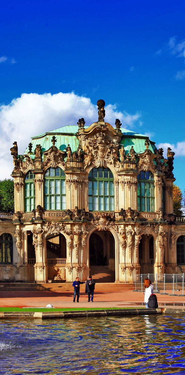 Beautiful View of Zwinger Museum in Dresden, Germany