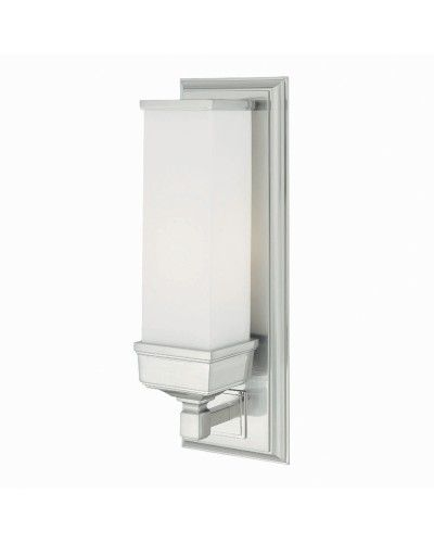 Elstead Lighting Cambridge 1 Light Bathroom Wall Light In Polished Chrome Finish With Opal Glass Shade