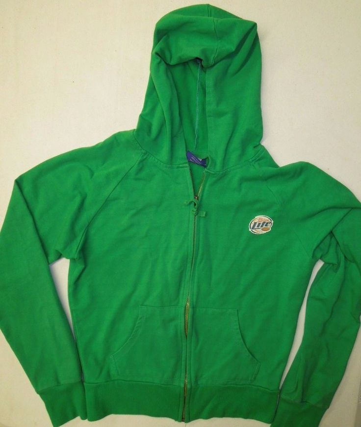 Women Sz M/L #MillerLight Green Zip Up #TrackJacket #WomensJacket #WomensFashion