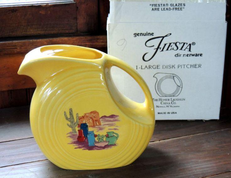 Fiestaware FIESTACANA Betty Crocker DISK PITCHER Jug Southwestern Fiesta, Box #Fiesta