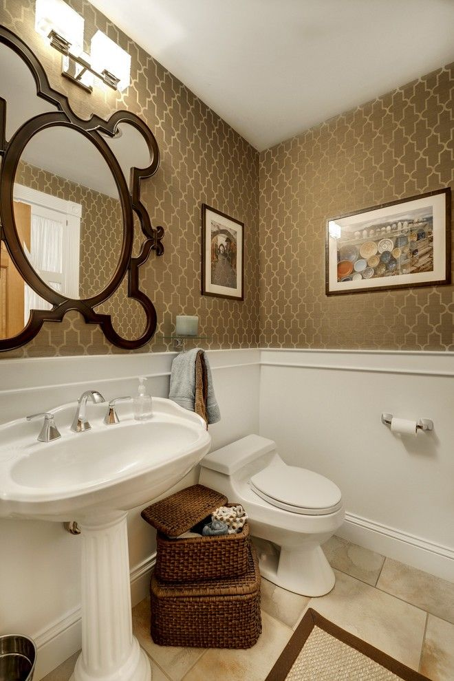 Half Bath Pedestal Sink Decorating Ideas   Google Search