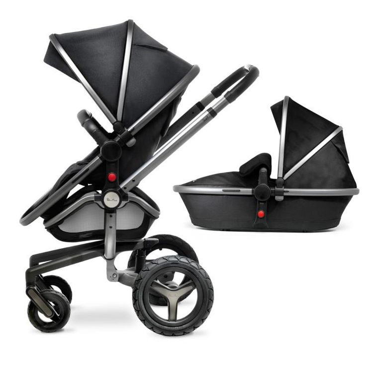 Silver Cross Surf 2 Chassis & Seat Unit With Carrycot - Graphite is in stock and is available now. Order online today with price matching and speedy delivery.