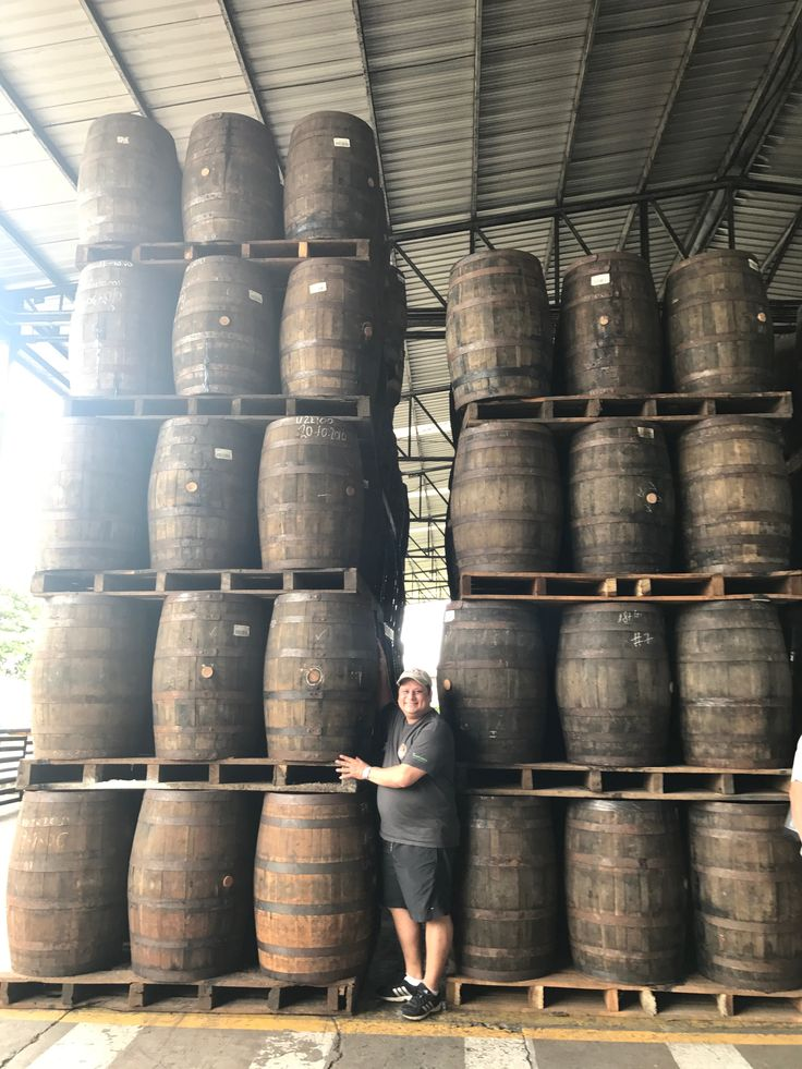Barrels used to age the Flor de Caña rum appreciated during Factory Tour in Chichigalpa, Chinandega - Nicaragua