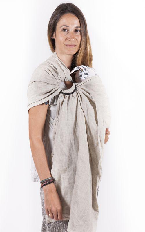 Bandolera de anillas #SAUVAGEsling by Littlemiss.es    - fular portabebés, fular elástico, portabebés, baby wrap, wrap, baby carrier, baby sling, porteo, porteo ergonómico, babywearing, bandolera de anillas, ring sling, mei tai, mochila ergonómica, mochila portabebés