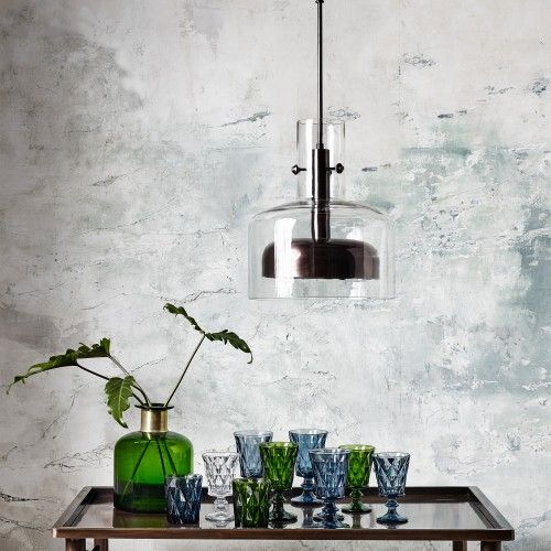 Copper & Glass Hanging Lamp (Small)
