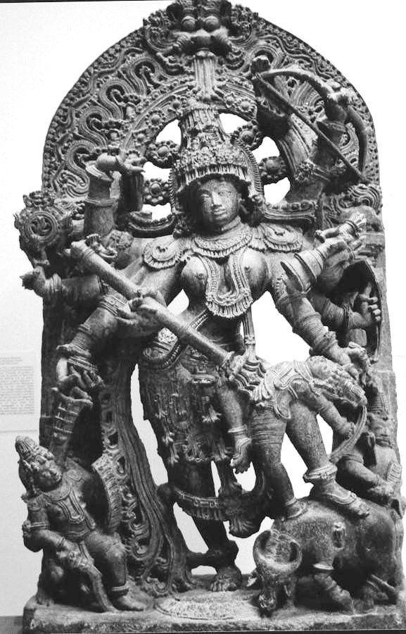 Durga Hoysala sculpture