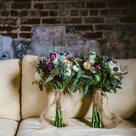 Matching Rustic Bridal Bouquets   Dark Roux Photography   TheKnot.com