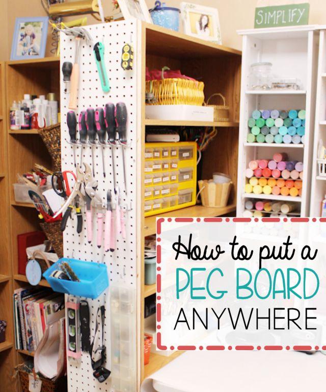 Hang Pegboard Anywhere u0026 Get Organized 152
