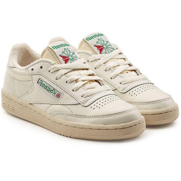 Reebok Club C 85 Vintage Leather Sneakers (1 400 ZAR) ❤ Like on Polyvore …..   – aesthetic