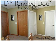 Hohlkernbohrung zu einem schönen aktualisiert Tür DIY Platte Tür Verjüngungskur, Türen, wie man, Malerei