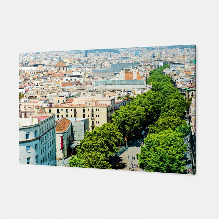 Barcelona from above Canvas, Live Heroes