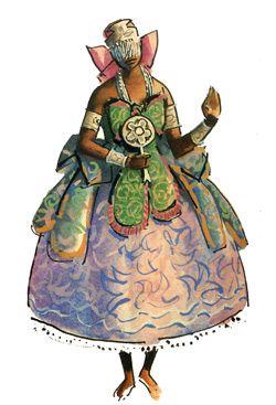 """Iemanjá - Imagens retiradas do livro """"Os Deuses Africanos no Candomblé da Bahia"""" de Caribé"""