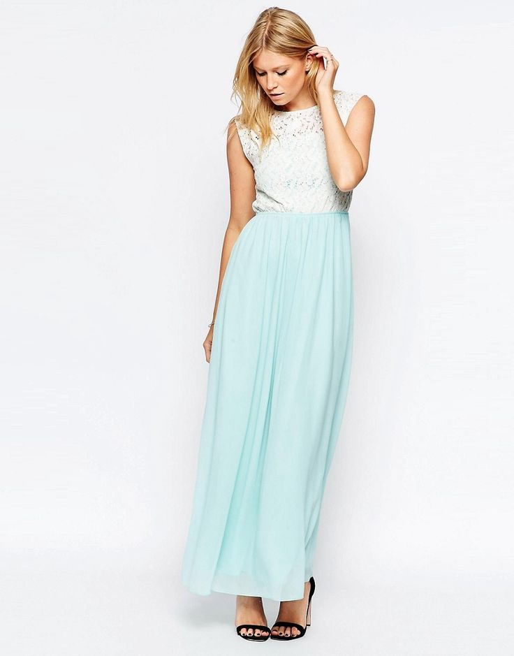 Image 4 of Club L Lace Top Maxi Dress With Chiffon Skirt