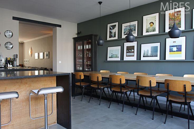 Les 25 meilleures id es concernant bureau de salle de for Cuisine moderne coloree