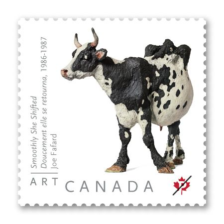 Art Canada: Joe Fafard  From Canadian Post Office - stamp commemorating an excellent cow sculpture!