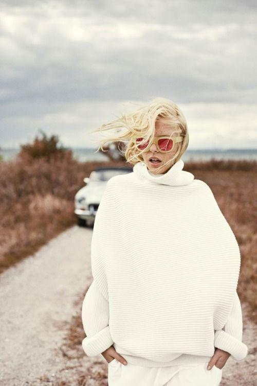 LOVE a cozy white sweater