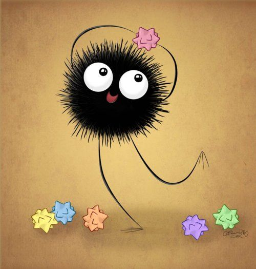Soot sprite. Spirited away.