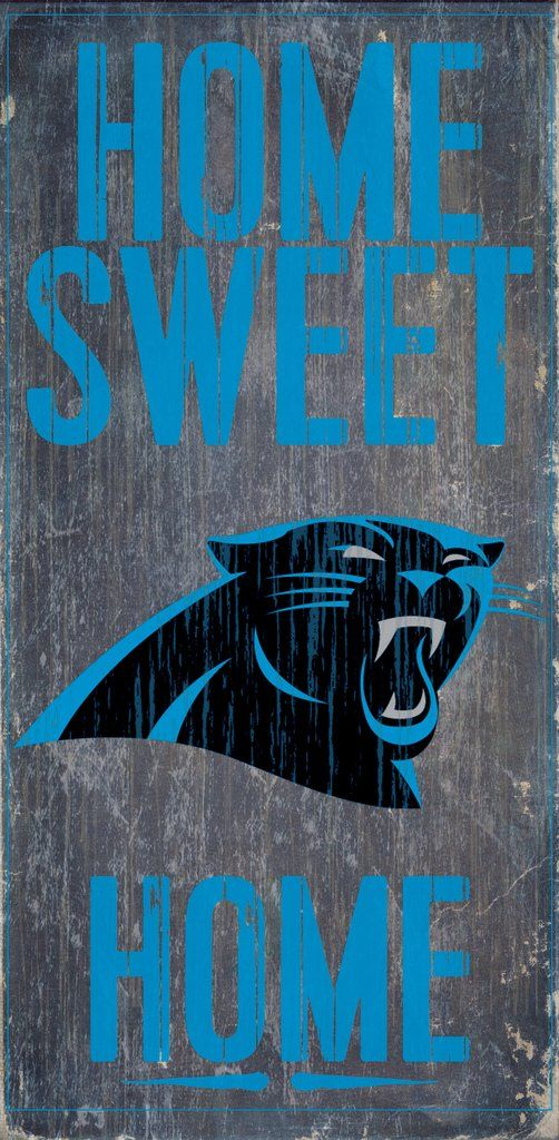 Carolina Panthers Sign Wood 6x12 Home Sweet Home Design