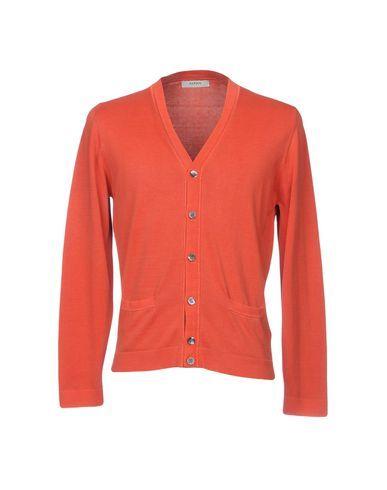 ALPHA STUDIO Men's Cardigan Rust 40 suit