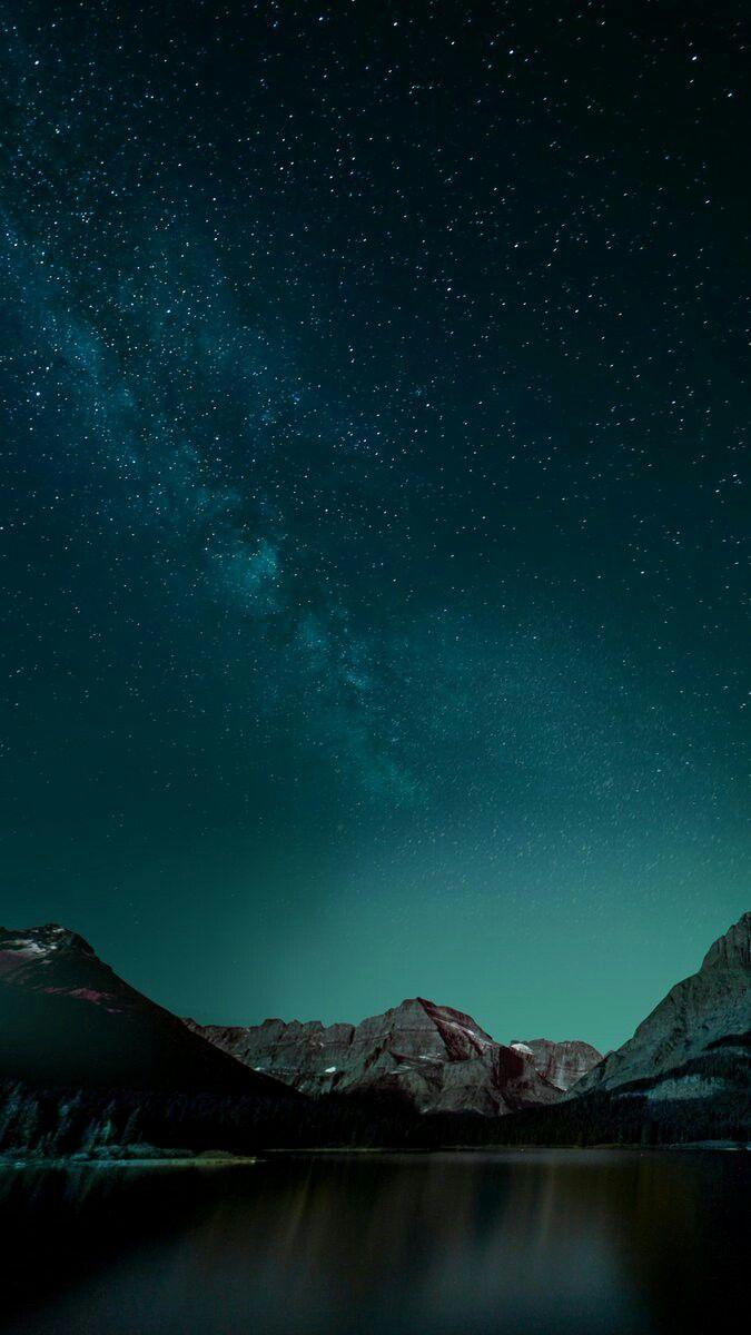 Cielo verde oscuro Noche Fondos hipsters para iphone