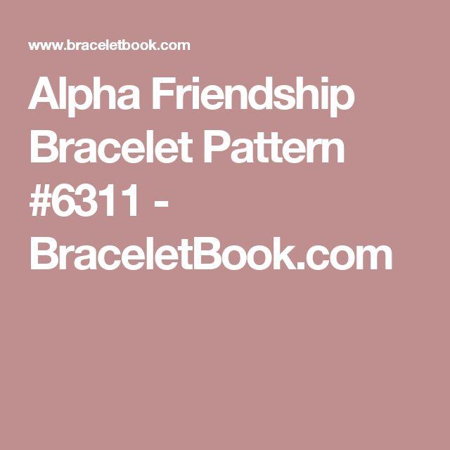 Alpha Friendship Bracelet Pattern #6311 - BraceletBook.com