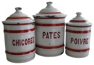 French Enamelware Canister - eclectic - food containers and storage - new york - by Second Shout Out