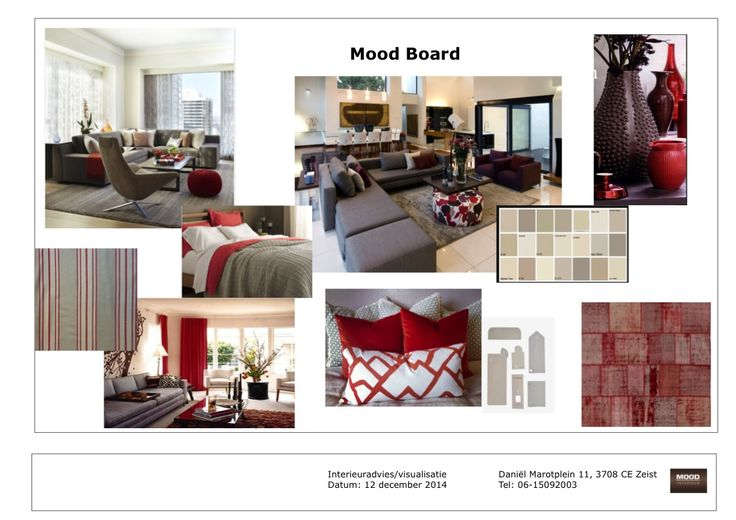 Mood board The color red is leading