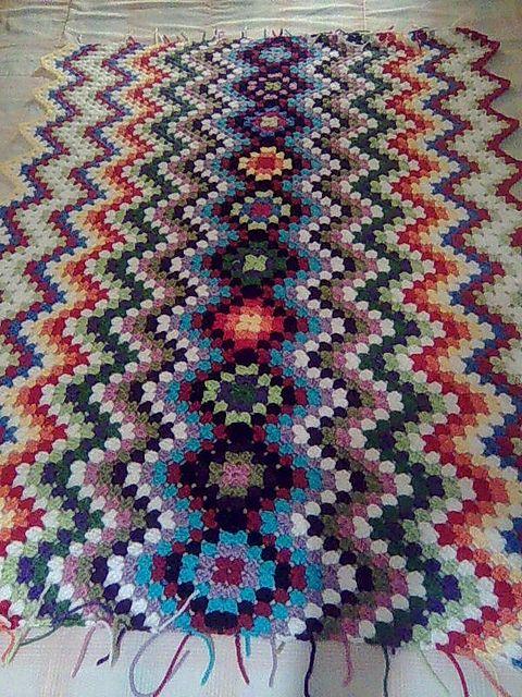 Crochet ~ Granny Squares meet Granny Chevron!
