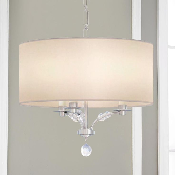 Modern crystal bead shade chandelier small the white drums and white linens - White chandelier with shades ...