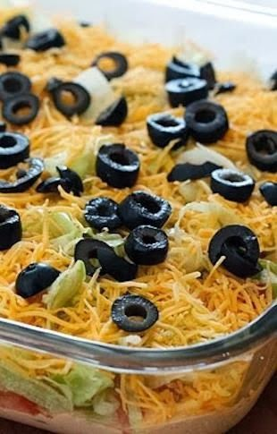 Skinny Taco Dip ~ If you're looking for an easy, healthy, and delicious appetizer for a get together, give this one a shot!