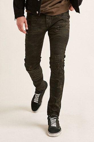c92dd332 Waimea Camo Print Moto Jeans in 2019 | Products | Moto jeans, Jeans ...
