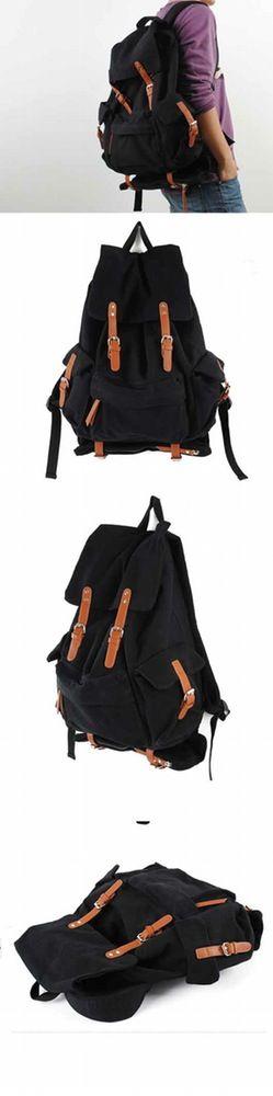 Image of Canvas Backpack travel bag Briefcase Backpack Messenger Laptop shoulder bag X-1