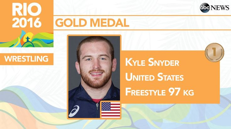 GOLD FOR THE USA!  Youngest Olympic wrestling champion in United States history! Kyle Snyder takes GOLD over Goziumov of Team AZE in Freestyle 97 kg. Rio 2016 Wrestling: 8/21/16
