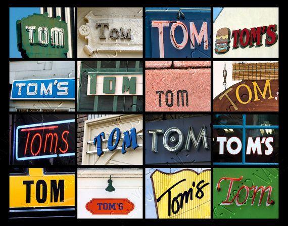 Personalized Poster featuring TOM Version 1 in photos of 16 signs! by SignYourNames  #tom #poster #wallart #giftideas #design #art #personalized