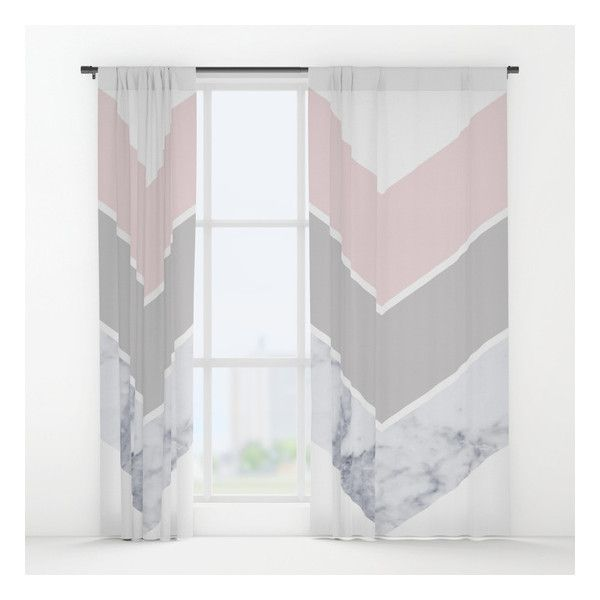 Scandinavian Marble Blush Gray Window Curtains ($79) ❤ Liked On Polyvore  Featuring Home, Part 94