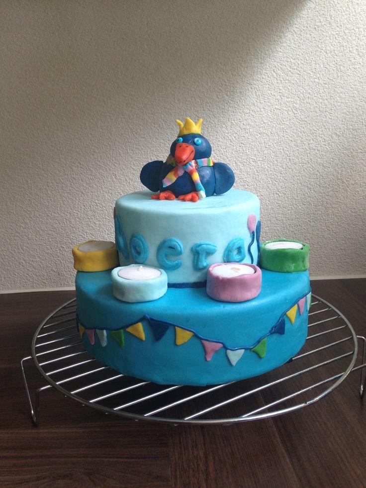 Raai de Kraai verjaardagstaart. Zelf gemaakt!