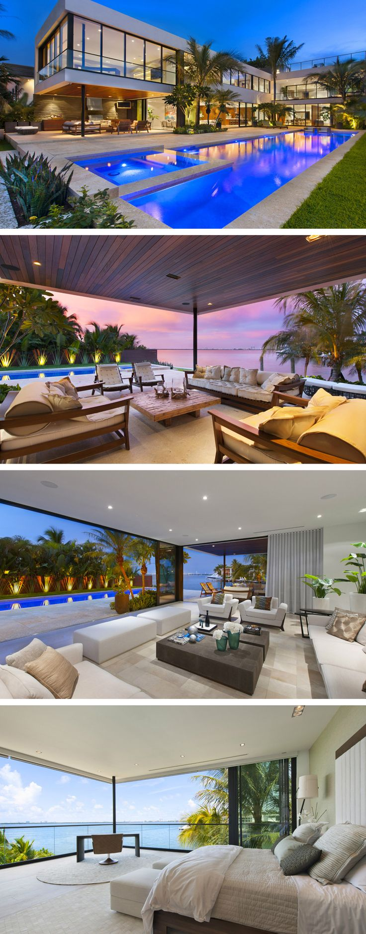 The breathtaking view of the ocean as well as the impressive design of the house creates a home that anyone wants to own! Modern Miami Beach House with Tropical Beauty in Florida