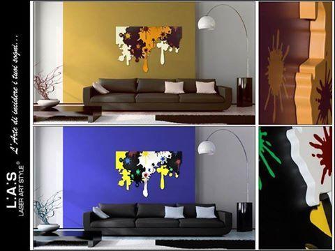Laser Art Style è colore, #design e innovazione. bit.ly/1L6dwuc #Orologio #Quadri #Arredo #Home