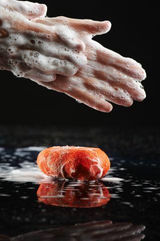 Using a felt soap